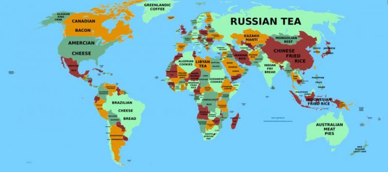 Kulinarska Mapa Svijeta